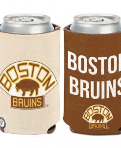 Boston Bruins 12 oz Brown Vintage Can Koozie Holder