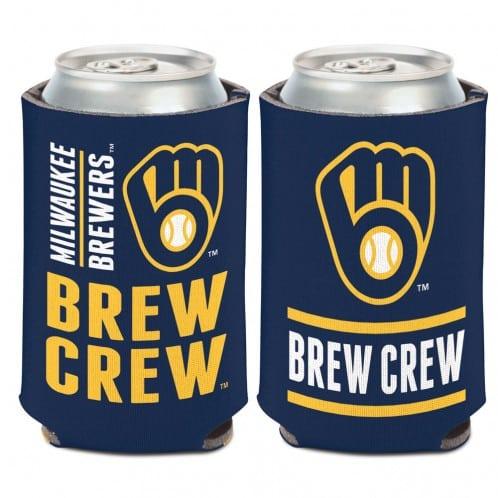 Milwaukee Brewers 12 oz Navy Slogan Can Koozie Holder