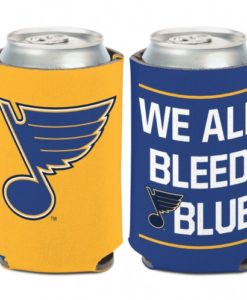 St. Louis Blues 12 oz Blue Yellow Slogan Can Koozie Holder