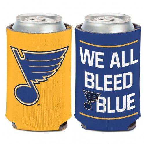 St. Louis Blues 12 oz Blue Yellow Slogan Can Koozie Holder