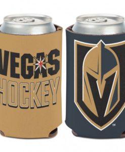 Vegas Golden Knights 12 oz Gold Black Slogan Can Koozie Holder