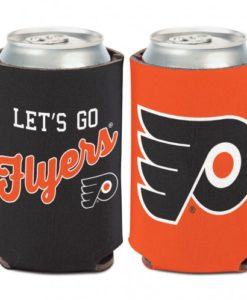 Philadelphia Flyers 12 oz Orange Black Slogan Can Koozie Holder