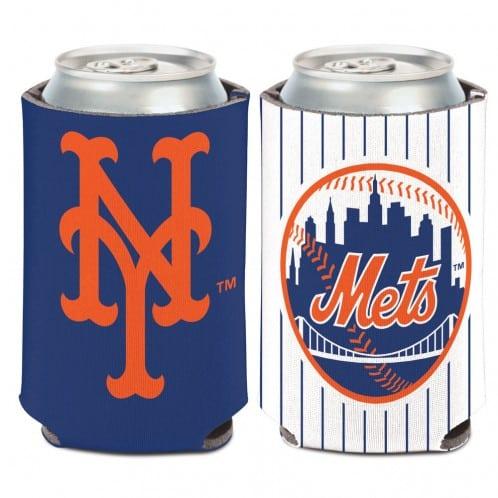 New York Mets 12 oz White Navy Can Koozie Holder