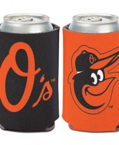 Baltimore Orioles 12 oz Black Orange Can Koozie Holder