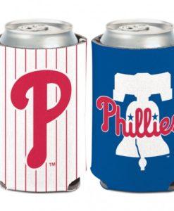 Philadelphia Phillies 12 oz Blue White Can Koozie Holder