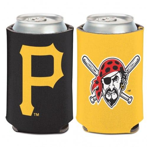 Pittsburgh Pirates 12 oz Yellow Black Can Koozie Holder