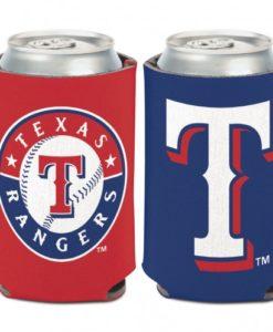 Texas Rangers 12 oz Blue Red Can Koozie Holder