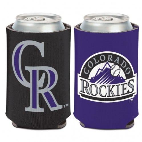 Colorado Rockies 12 oz Black Purple Can Koozie Holder