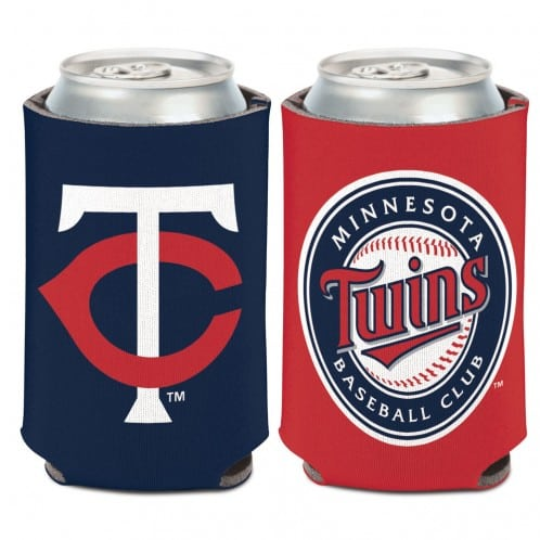 Minnesota Twins 12 oz Navy Red Can Koozie Holder