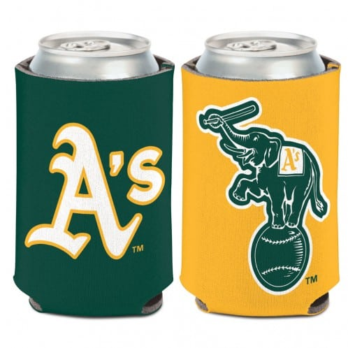 Oakland Athletics 12 oz Yellow Green Can Koozie Holder