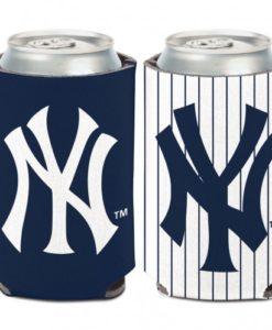 New York Yankees 12 oz Navy White Can Koozie Holder