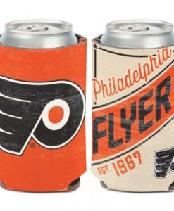 Philadelphia Flyers 12 oz Orange White Vintage Can Koozie Holder