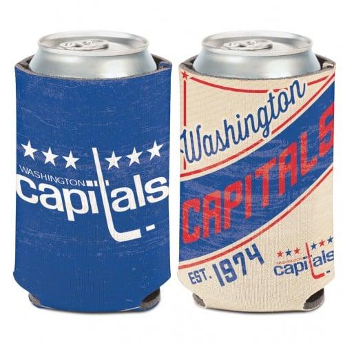 Washington Capitals 12 oz Blue White Vintage Can Koozie Holder