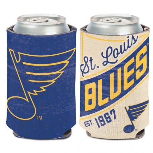 St. Louis Blues 12 oz Blue Vintage Can Koozie Holder