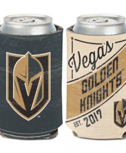 Vegas Golden Knights 12 oz Gold Vintage Can Koozie Holder