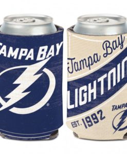 Tampa Bay Lightning 12 oz Blue White Vintage Can Koozie Holder