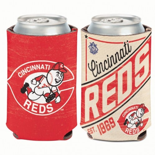 Cincinatti Reds 12 oz Red Cooperstown Can Koozie Holder