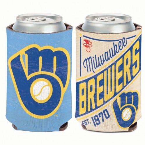 Milwaukee Brewers 12 oz Blue Cooperstown Can Koozie Holder