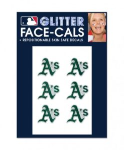 Oakland Athletics Temporary Glitter Tattoos