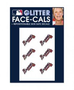 Atlanta Braves Temporary Glitter Tattoos
