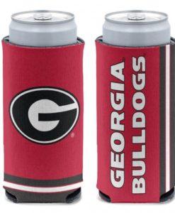 Georgia Bulldogs 12 oz Red Slim Can Koozie Holder