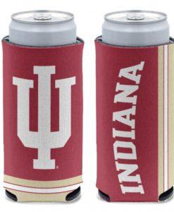 Indiana Hoosiers 12 oz Crimson Slim Can Koozie Holder