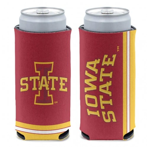 Iowa State Cyclones 12 oz Red Slim Can Koozie Holder