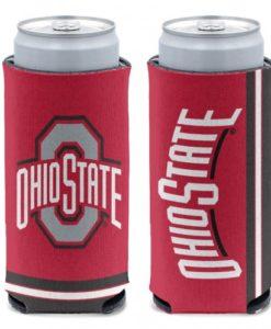Ohio State Buckeyes 12 oz Red Slim Can Koozie Holder