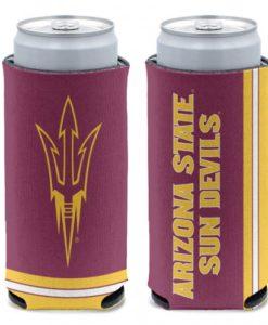 Arizona State Sun Devils 12 oz Maroon Slim Can Koozie Holder