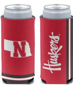 Nebraska Cornhuskers 12 oz Red Slim Can Koozie Holder