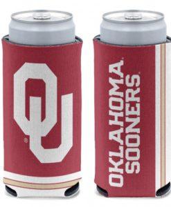 Oklahoma Sooners 12 oz Red Slim Can Koozie Holder