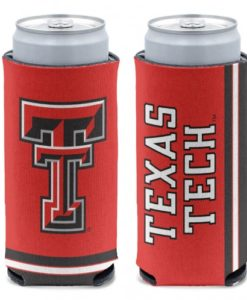 Texas Tech Red Raiders 12 oz Red Slim Can Koozie Holder
