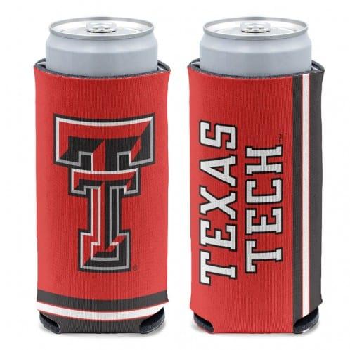 Texas Tech Red Raiders 12 oz Red Slim Can Koozie Holder