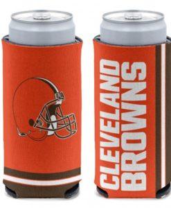 Cleveland Browns 12 oz Orange Slim Can Koozie Holder