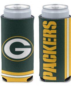 Green Bay Packers 12 oz Green Slim Can Koozie Holder