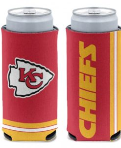 Kansas City Chiefs 12 oz Red Slim Can Koozie Holder