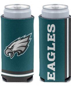 Philadelphia Eagles 12 oz Green Slim Can Koozie Holder