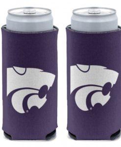 Kansas State Wildcats 12 oz Purple Slim Can Koozie Holder