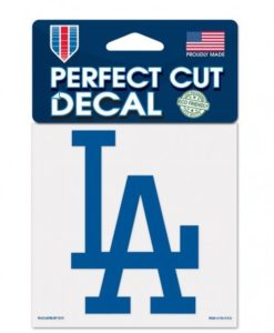 """Los Angeles Dodgers 4""""x4"""" Perfect Cut Color Decal"""