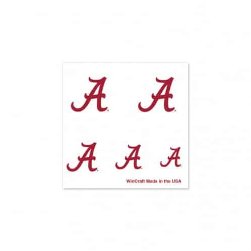 Alabama Crimson Tide Fingernail Tattoos