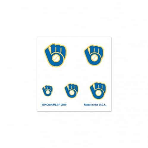 Milwaukee Brewers Fingernail Tattoos
