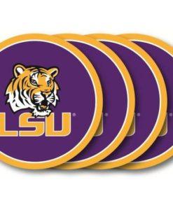 LSU Tigers Coaster Set - 4 Pack