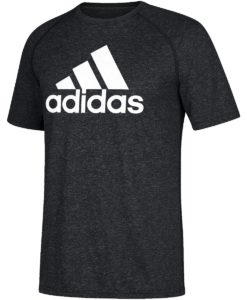 Men's Adidas Climalite Heather Black T-Shirt Tee