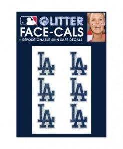 Los Angeles Dodgers Temporary Glitter Tattoos