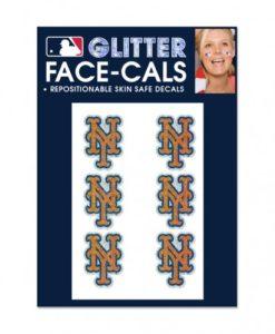 New York Mets Temporary Glitter Tattoos