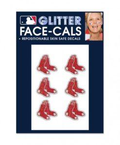 Boston Red Sox Temporary Glitter Tattoos