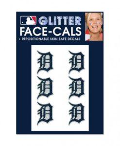 Detroit Tigers Temporary Glitter Tattoos
