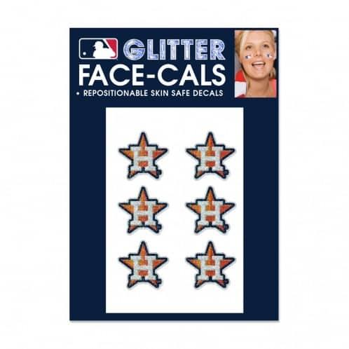 Houston Astros Temporary Glitter Tattoos