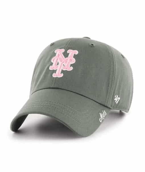 New York Mets Women's 47 Brand Moss Pink Miata Clean Up Hat