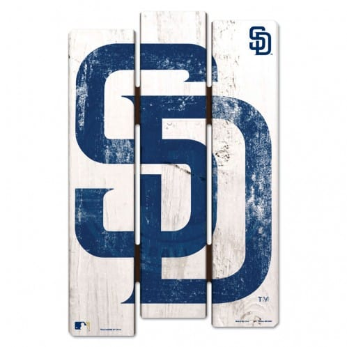 San Diego Padres Wood Fence Sign